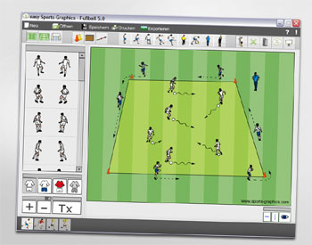 Zeichensoftware easy Sports-Graphics für Fußball, Handball, Hockey, Volleyball
