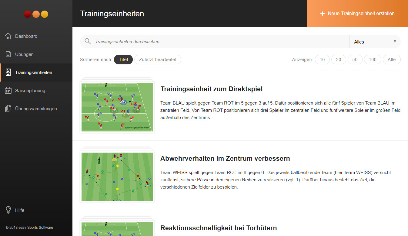 organizer-trainingseinheit